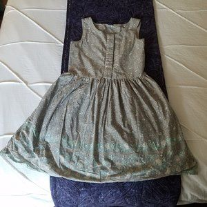 Gap girls dress, XL/12 grey blue flowers